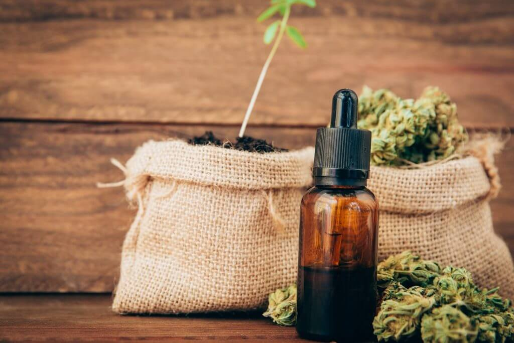 Cannabis tincture and buds